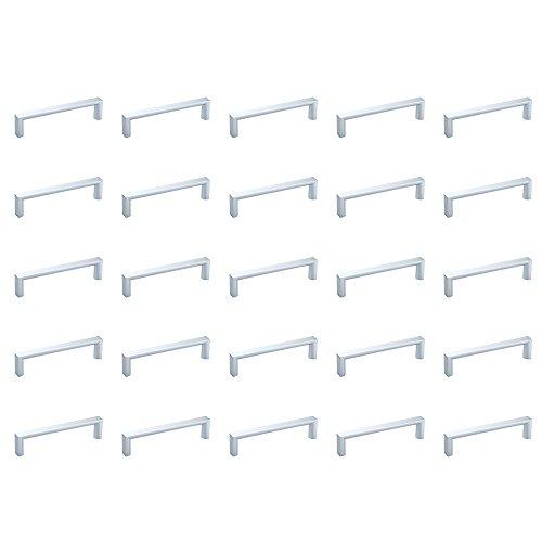 Emuca 9160425 Griffe für Möbelstück, CC 96mm, ABS-Kunststoff, Grau-metallic, 25 Stück
