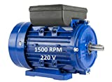 MOTOR ELECTRICO MONOFASICO 1,1KW / 1,5CV 220V 1500RPM B3 (PATAS) TAMAÑO 90S (EJE 24mm)