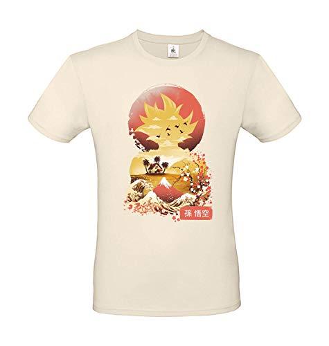 b&c Dragon Ball Goku Japan Style - Camiseta 100% algodón natural XS