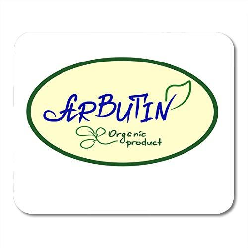 Tapis de souris Arbutin Produit biologique Nom manuscrit de pour étiquettes Étiquette de prix Livret Tablettes Cosmétiques et crème Tapis de souris pour ordinateurs portables, ordinateurs de bureau ta