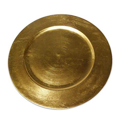 BigDean Platzteller Dekoteller Gold 36cm Goldteller Teller