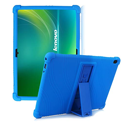 HminSen Silicone Stand Case for Lenovo Smart Tab M10 10.1 inch ONLY FITS Tablet Models TB-X605F, TB-X505F,I,L,X and P10 (TB-X705F) Tablet. (Navy Blue)