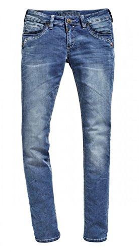 Timezone Damen Slim Tahila Jogg Straight Jeans, Blau (Blue Denim Wash 3041), W31/L32