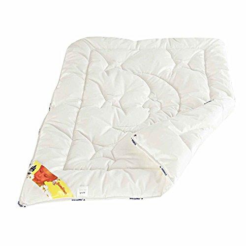 IRISETTE bambino duo couette pour enfant avec housse en coton percale, blanc, 80X80, 250G