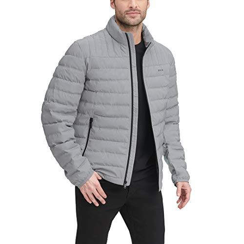 DKNY Herren Water Resistant Ultra Loft Quilted Packable Puffer Jacket Daunenalternative, Mantel, Reflektierend, Large