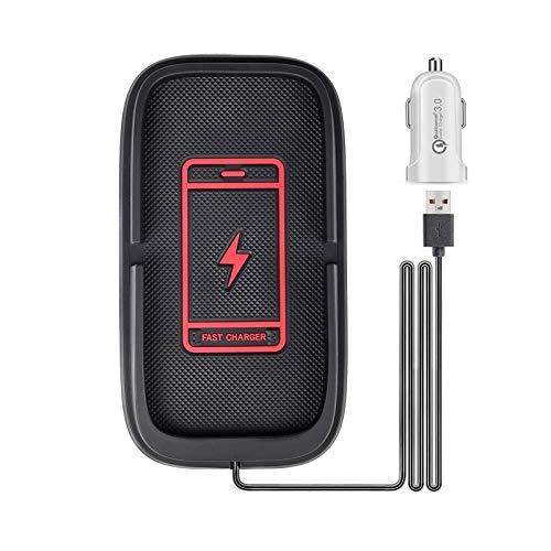 Je Caricatore Wireless Auto, 15W Wireless da Auto Qi Supporto 10/7.5W per iPhone 12/12 Mini/12 Pro/12 PRO Max/SE 2020/ iPhone11Pro Max/XR, GalaxyS20/S10/Note 10 Serie,Tesla Model 3