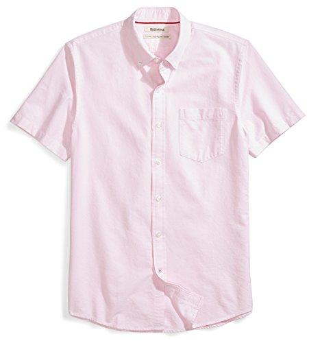 Amazon Brand - Goodthreads Men's Standard-Fit Short-Sleeve Oxford Shirt w/Pocket, Pink, X-Large