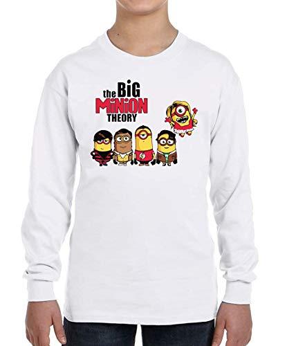 Camiseta Manga Larga de NIÑOS The Big Bang Theory Sheldon Cooper Penny Bazinga 7-8 Años
