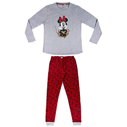 ARTESANIA CERDA Largo Minnie Conjuntos de pijama, Gris (Gris 13), L para Mujer