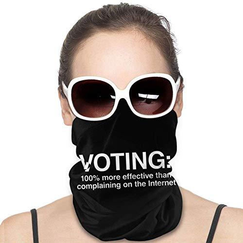 AllenPrint Head Wrap,Voter 100% Plus Efficace Que Se Plaindre sur Internet Bandeaux 12 en 1, Écrans Faciaux Décoratifs pour La Course À Pied,25x50cm