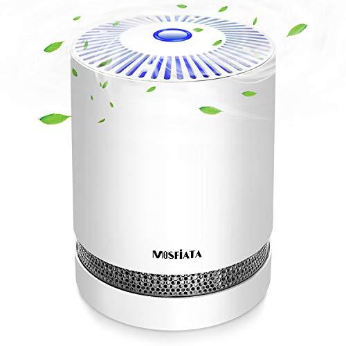 Luftreiniger MOSFiATA Air Purifier mit HEPA-Kombifilter & Aktivkohlefilter,3-Stufen-Filterung für 99,97%,Perfekt gegen Staub- und Haustierallergene, Asthmatiker