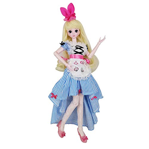 "Alice 1/4 SD Doll 45cm 18"" Jointed Dolls BJD Dolls Full Set Toy Night Lolita Yeluoli for Birthday Gift"