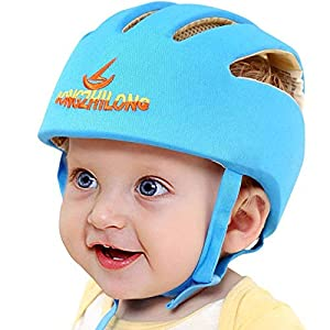 Infant Baby Safety Helmet, IULONEE Toddler Adjustable Protective Cap, Children Safety Headguard Harnesses Protection Hat for Running Walking Crawling