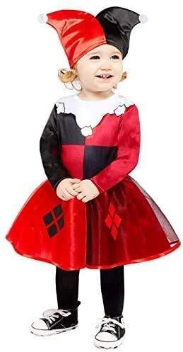 amscan Disfraz de Harley Quinn 9907673 para bebé (12-18 meses), 1 unidad