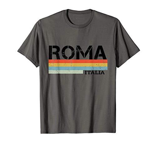 Roma Retro Vintage Strisce Maglietta