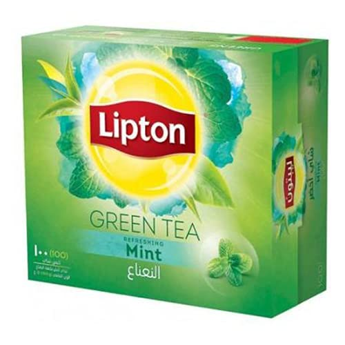 Lipton Green Tea Refreshing Mint 100 Tea Bags, 150 g