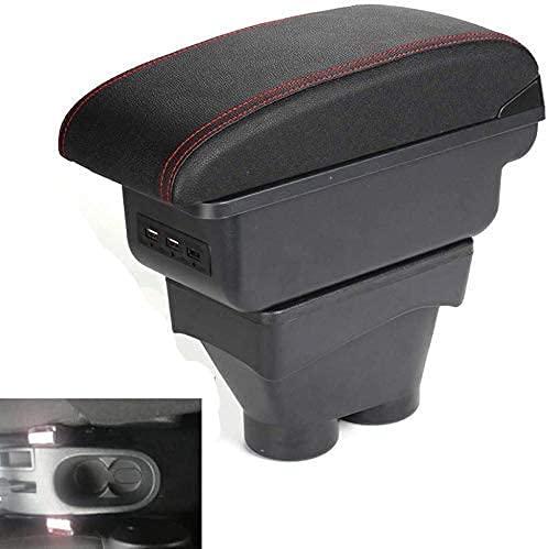 Caja De Reposabrazos Central Para AutomóVil para Peugeot 207, Caja De Almacenamiento De Consola Central, Con Puertos USB, Piezas De ModernizacióN Interior