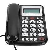 Goshyda Teléfono Fijo, teléfono Fijo para el hogar 50 Grupos de identificación de Llamadas y grabación de la Hora de Las Llamadas, para el Dormitorio de la Oficina Familiar(Rojo)