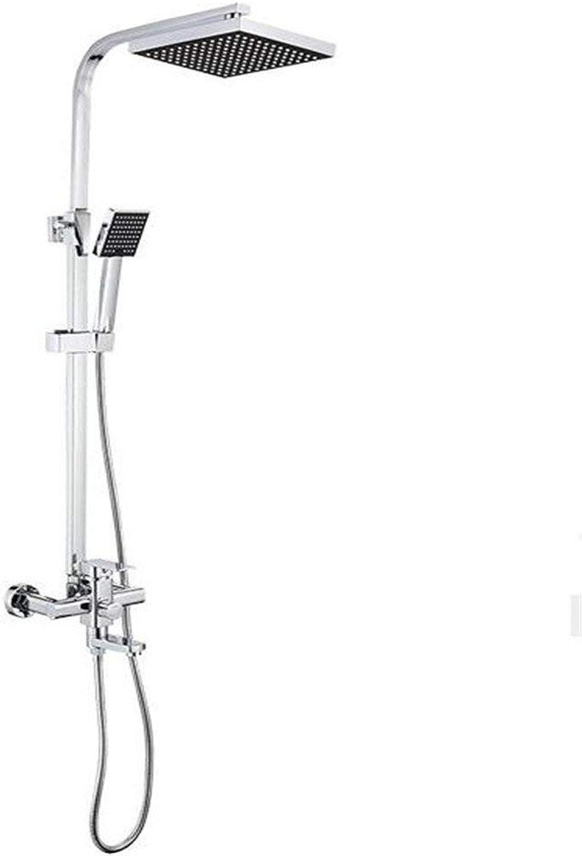 H.JPT Kupfernes Duschverstrker-Viererkabel-Duschset Druckwassersparendes Verdickungs-Kupfernagel-Duschbad-Set