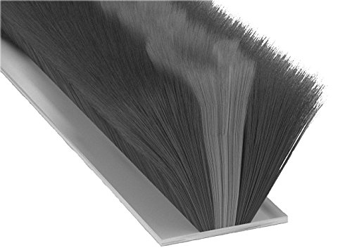 Stormguard 05SR750007MGR Burlete de cepillo, ideal para puerta de garaje, autoadhesiva, 7m, color negro