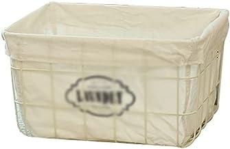 SKGOFGODcw Home Storage Bins Iron Storage Basket, Cotton and Linen Lining, Fruit Snack Storage Basket, Underwear Sundries ...