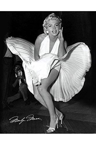 Monroe Marilyn Seven Year Itch Mini Poster Filmposter Kino schwarz-Weiss Foto Marilyn Monroe - Grösse 40x50 cm