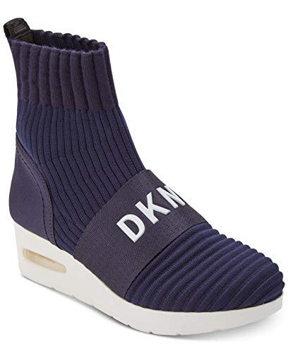 DKNY Anna Slip on Wedge K3873121 Ribber Knit Navy NVY Pointure 39