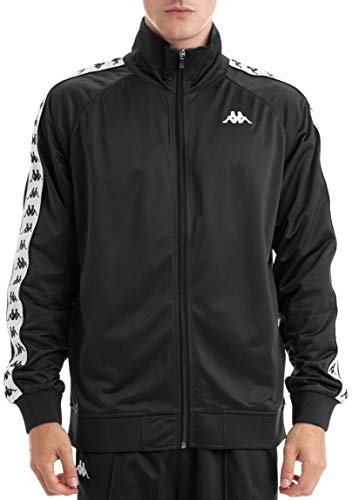 Kappa Banda Anniston Track Jacket | Black/White X-Large
