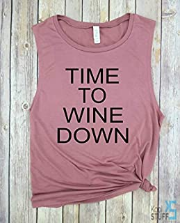 Time to Wine Down, Give Me Wine And Tell Me I'm Pretty, Wine Shirt, Womens Wine Shirt, Birthday Gift, Graphic Tee, Wine T Shirt, Funny Shirt for Women, Funny T Shirt, T Shirt with Sayings, Brunch Tank