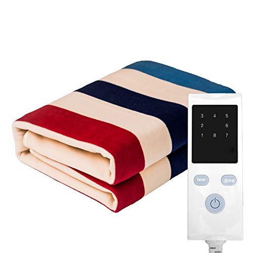 WYSD Electric Heated Blanket, Heated Throw Flannel Blanket with 8 Hours Timer Control and 8 Heating Settings, for Home Office Bed Sofa