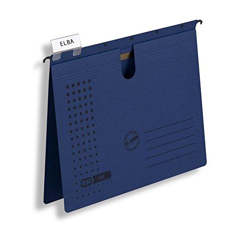 Preisvergleich Produktbild ELBA Hängehefter chic für A4,  aus Karton,  dunkelblau