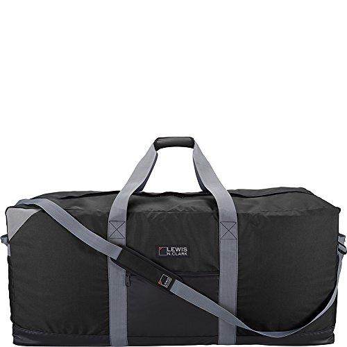 Lewis N. Clark Heavy Duty Large Duffel Bag for Women + Men, Carry On, Gym Duffel Bag, DayPack, Ditty Bag & Travel BackPack Alternative with Neoprene Gear Bag, 40in - Black