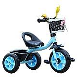 Axdwfd Infantiles Bicicletas Triciclo para niños con Bicicleta de Pedales para niños de 1 a 6 años de Edad, Peso de Carga 50 kg Carro de bebé Niños Juguete para niñas (Color : Azul)