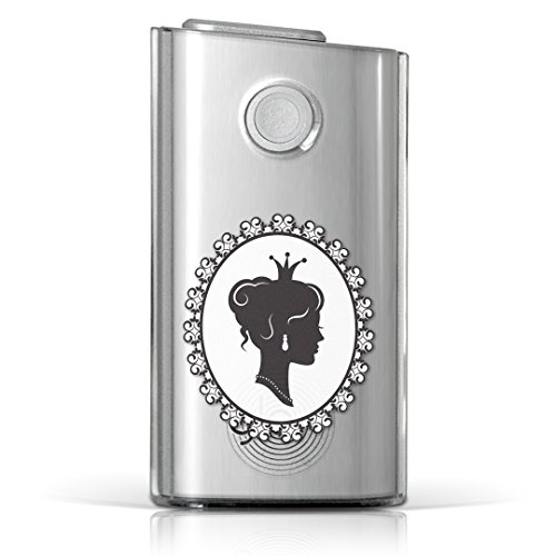 glo グロー グロウ 専用 クリアケース クリアカバー タバコ ケース カバー 透明 ハードケース カバー 収納 デザイン ポリカーボネート 人物 モノクロ アンティーク 009790