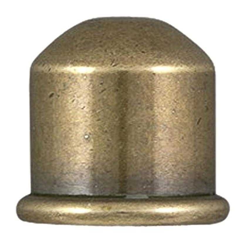 TierraCast Cord End Cupola Beads, 10mm Inner Diameter/12mm, Antique Brass