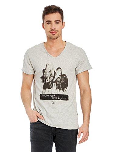 Boom Bap T-Shirt grau meliert M