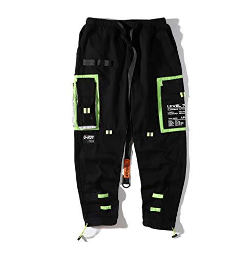 Feidaeu Pantaloni Sportivi da Uomo Streetwear Harajuku Style Multi Tasche Pantaloni Cargo Harem Jogger Pantaloni Hip Hop Casual