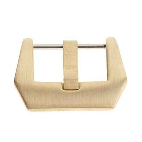 blesiya Oro de acero inoxidable reloj de pulsera de cinturón hebilla hebilla estilo–Relojes accesorios, Gold - 26mm