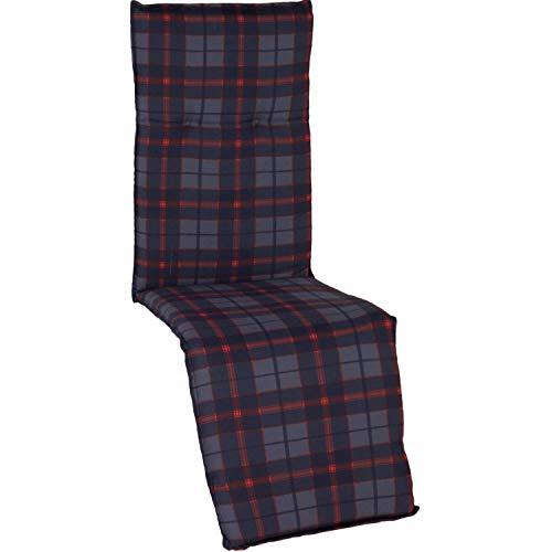 Beo M307 Bergen RE Coussin avec bordure pour fauteuil relax de jardin 47 x 168 cm Épaisseur 5 cm
