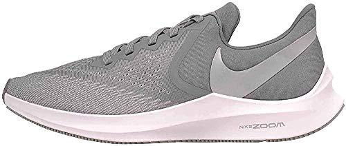 Nike Zoom Winflo 6, Zapatillas de Atletismo Hombre, Multicolor (Cool Grey/Mtlc Platinum/Wolf Grey/White 2), 41 EU