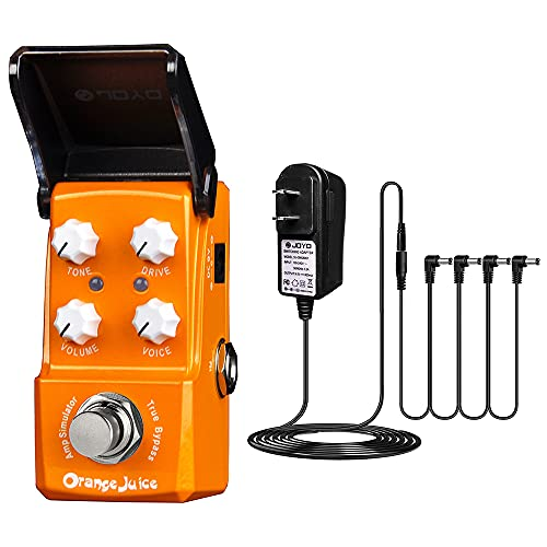 JOYO Orange Juice Guitar Amp Simulator Effects Mini Pedal Bundle DC 9V Power Supply (800mA -1A) Adapter is $51.28 (16% off)