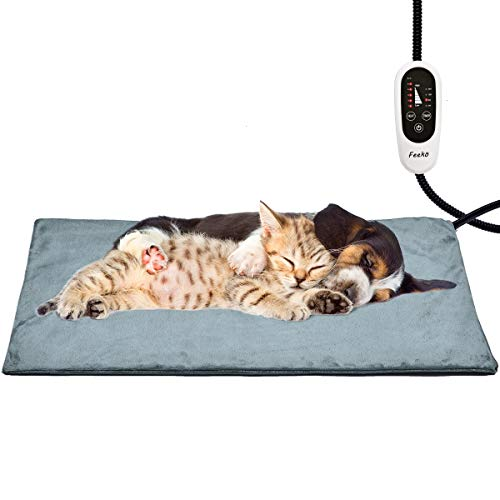 Feeko Pet Heating Pad, 28' x 16' Large Electric Heating Pad for Dogs and Cats Indoor Adjustable...