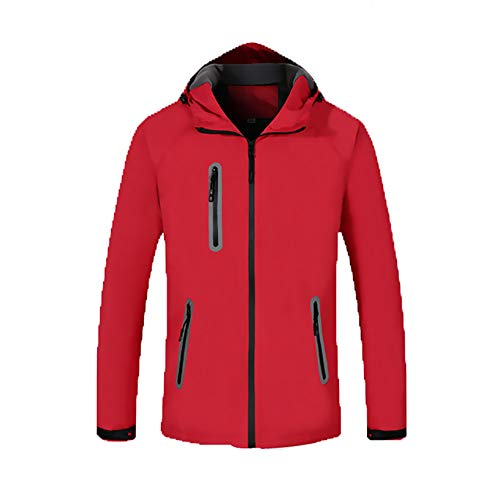 Zeiyuqi damesjack, winter, warm, met capuchon, heren, korte jas, smal, lange mouwen, winddicht, waterdicht, tas