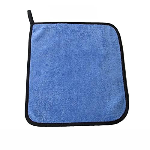 MCYAW 30x30 / 40/60 cm de Lavado de Autos Toalla de Microfibra Limpieza de Coches Paño de Secado Hemming Car Paño Detalle Detalle de Lavado de Autos Toalla Azul
