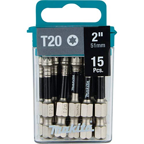 Makita E-01068 Impact XPS T20 Torx 2' Power Bit, 15/pk