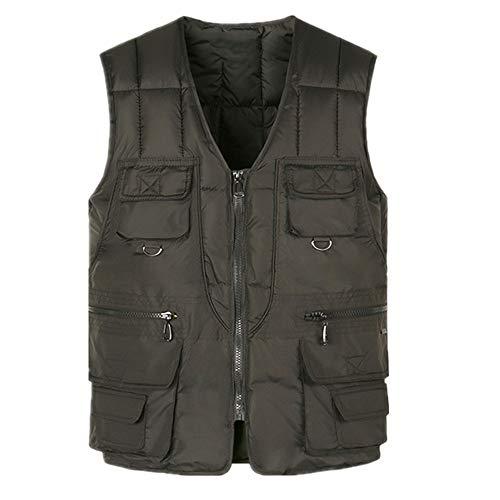 Chaleco de algodón para hombres con muchos bolsillos caliente multi bolsillo