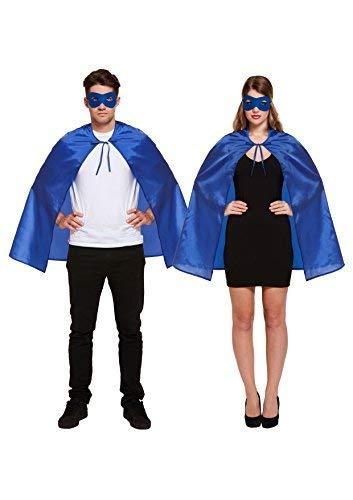 Best Dressed Disfraz Adulto Superhéroe Capa y máscara - Azul