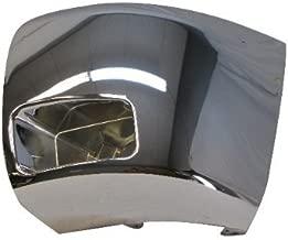 07-10 08 07 06 CHEVY SILVERADO 2500 3500 FRONT BUMPER CAP/END CHR W/FOG HOLE LH