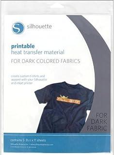 Silhouette Heat-Print-DK Printable Heat Transfer Material for Dark Fabrics