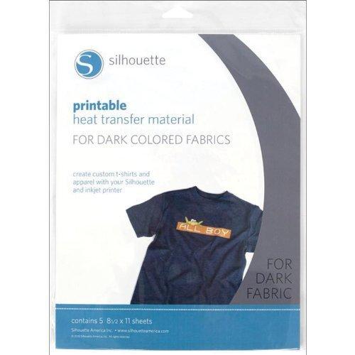 Silhouette Papier de Transfert à Chaud Imprimable pour Tissus foncés